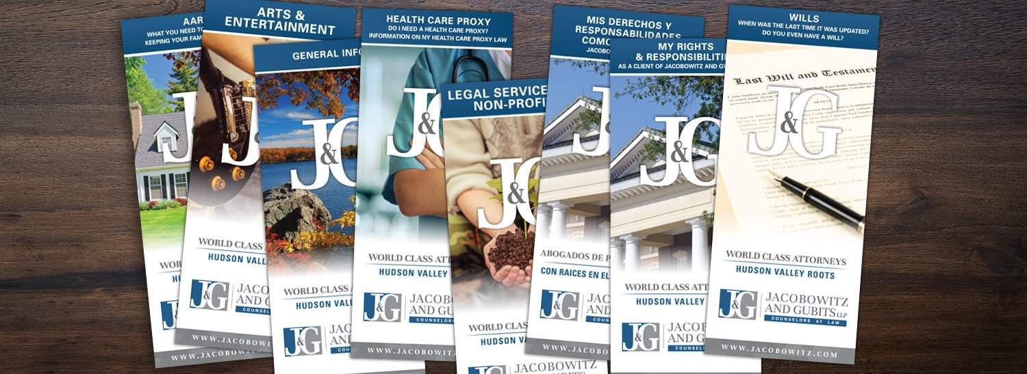Jacobowitz and Gubits, brochures, law firm ny,