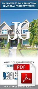 A brochure on property taxes from the real estate lawyers at Jacobowitz & Gubits, LLP in Walden, NY